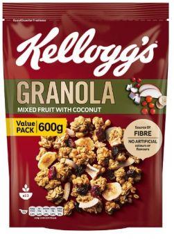 Granola Mixed Fruits with Coconut 600G - Kellogg's