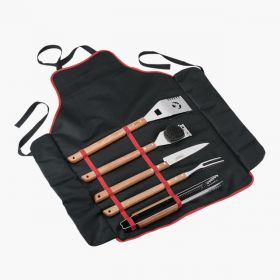 6 Pieces Barbecue Set Long Handle Apron included