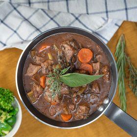 Frozen Beef and Chestnut Mushroom Ragout 410g - Dinner's Ready