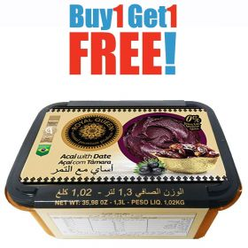 Buy One Get One Free 1.3L Acai Sweetened with Dates - Royal Queen