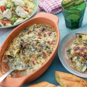 Frozen Goat Cheese and Ricotta Cannelloni in Creamy Spinach 445g - Dinner's Ready