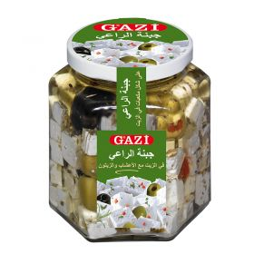 Soft Cheese Cubes In Oil With Herbs+Olives 300g - Gaz