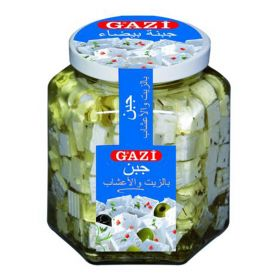 Soft Cheese Cubes In Oil With Herbs 300g - Gazi