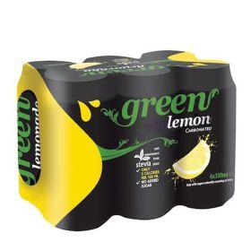 6 x Green Cola Lemon Can 330ml