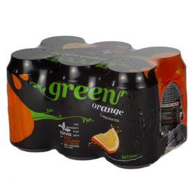6 x Green Cola Orange Can 330ml