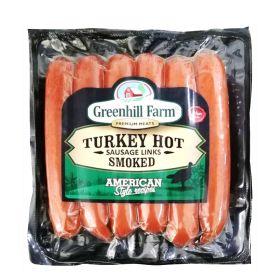 Turkey Hot Smoked Sausage 396G - Green Hills