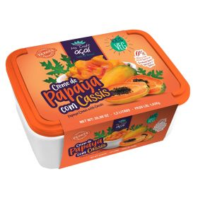 Papaya With Cassis Cream - Mr. Craft