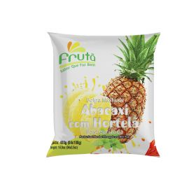 Frozen Pineapple with Mint Pulp 400g (4x100g)- Fruta