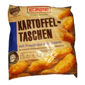 Frozen Potato Pockets with cream cheese & herbs 600g – Wernsing (Germany)