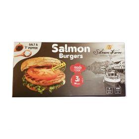 Frozen Salmon Burger Salt And Pepper 100g - Salmon Farm
