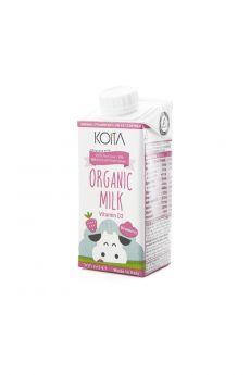 Organic Strawberry Low Fat Milk 200ml - Koita
