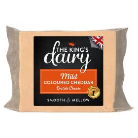 Mild Colored Cheddar 200g - The King's Dairy