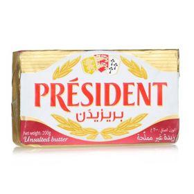 Butter Unsalted 200g - President